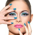 Beautiful girl with gorgeous face cute attractive woman makeup Stock Photography