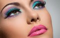 Beautiful girl with gorgeous face cute attractive woman makeup Royalty Free Stock Image