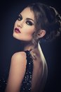 Beautiful girl with gorgeous face retro cute attractive woman Stock Photography