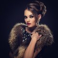 Beautiful girl with gorgeous face retro cute attractive woman Royalty Free Stock Photo