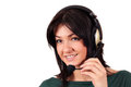 Beautiful girl with headphones Royalty Free Stock Image