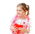 Beautiful girl holding a heart Stock Photos