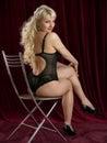Beautiful girl in lingerie shooting studio Stock Photo