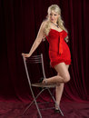 Beautiful girl in lingerie shooting studio Stock Photos