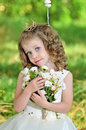 A beautiful girl on nature Royalty Free Stock Photo