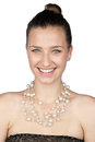 Beautiful girl with necklace Royalty Free Stock Photo