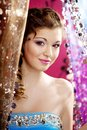 Beautiful girl in a nightclub Royalty Free Stock Photography