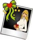 Beautiful girl on the photo Royalty Free Stock Photo