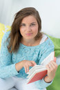 Beautiful girl read a book Royalty Free Stock Photo