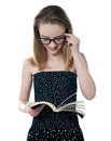 Beautiful girl reading book Royalty Free Stock Photography