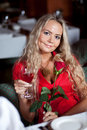 Beautiful  girl with red rose Royalty Free Stock Photo