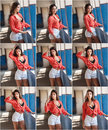 Beautiful Girl With Red Shirt ...