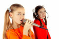 Beautiful girl singing Royalty Free Stock Photography