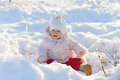 Beautiful Girl in Snow Royalty Free Stock Photography