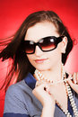 Beautiful girl in sunglasses Royalty Free Stock Photo