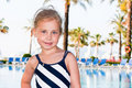 Beautiful girl at the swimming pool Royalty Free Stock Image