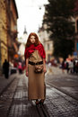 Beautiful girl urban portrait red haired Royalty Free Stock Photos