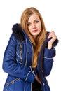 Beautiful girl in warm coat Royalty Free Stock Photos