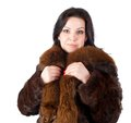 Beautiful girl in warm coat Royalty Free Stock Photography