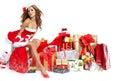 Beautiful  Girl Wearing Santa ...