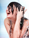 Beautiful girl with wet hair. Royalty Free Stock Photos