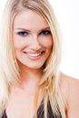 Beautiful glamorous smiling blond woman Royalty Free Stock Photo