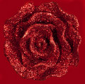 Beautiful Glittering Red Rose Background Stock Photos