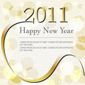 Beautiful gold bokeh New Year's Illustration Royalty Free Stock Image