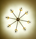 Beautiful of gold ceiling lamp Royalty Free Stock Image