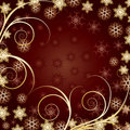 Beautiful Gold Christmas background Stock Photo