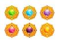 Beautiful golden amulets