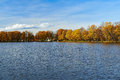 Beautiful golden autumn in the city park russia Royalty Free Stock Photo