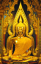 Beautiful golden Buddha, golden lord Buddha statue. Stock Images