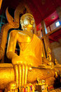 Beautiful golden buddha at Wat Tonson Royalty Free Stock Images