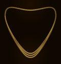 Beautiful golden chain of heart shape illustration vector Royalty Free Stock Photo
