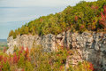 Beautiful gorgeous natural autumn background of niagara escarpment green belt fragment on sunny warm day Stock Images