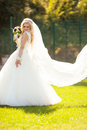 Beautiful gorgeous stylish bride getting prepared in the morning Royalty Free Stock Photo