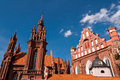 Beautiful gothic style st anne church in vilnius lithuania on a summer day Stock Photography