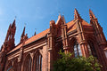 Beautiful gothic style st anne church in vilnius lithuania on a summer day Royalty Free Stock Images