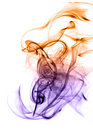 Beautiful gradient colored smoke abstract Stock Photography