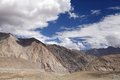 Beautiful granite mountain and ophiolites in ladakh landscape of region Royalty Free Stock Photo