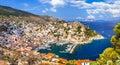 beautiful Greek islands - Hydra Royalty Free Stock Photo
