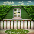 Beautiful green bio room view garden Royalty Free Stock Photography