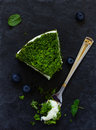 Beautiful green cake with spinach Royalty Free Stock Photo