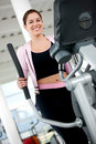 Beautiful gym woman Royalty Free Stock Photo