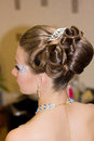 Beautiful hairdress for the bride european Royalty Free Stock Photos