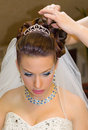 Beautiful hairdress for the bride european Stock Photography