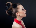 Beautiful hairstyle and hairdo.  Stylish haircut Royalty Free Stock Photos