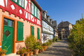 Beautiful half timbered houses in frankfurt hoechst Stock Photography