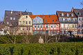 Beautiful half timbered houses in frankfurt hoechst Royalty Free Stock Photos